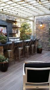 backyard kitchen backsplash ideas with oak cabinets sunroom