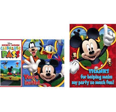 disney mickey mouse clubhouse invitations and thank you postcards