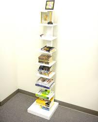 spine standing book shelves black storage and organization