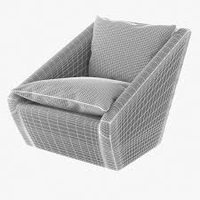 Club Swivel Chair Kelly Wearstler Harper Swivel Chair 3d Model Cgtrader