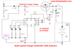 solar panel battery charge controller using arduino