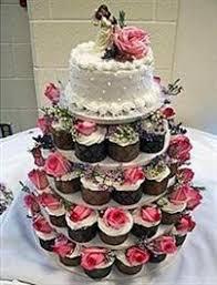 Cupcake Wedding Cake Cupcake Tiered Wedding Cake Home Design