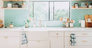 white kitchen cabinets with aqua backsplash design trends colorful tile and white kitchen fireclay tile