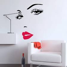 diy removable woman s sexy lips vinyl wall stickers wall decal see larger image