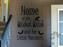 home of the wicked witch and her little monsters wall decal