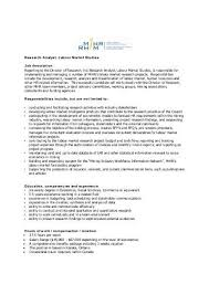 Market Research Sample Resume by Market Research Analyst Job Description Template By Baytcom