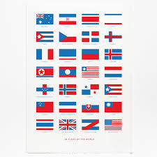 Flag Of The Dominican Republic Flags Of The World U0027 Screen Print By Crispin Finn At Soma Gallery