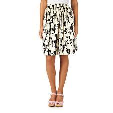 Black Tree Skirts People Tree Orla Kiely Flower Skirt Black Free Uk Delivery
