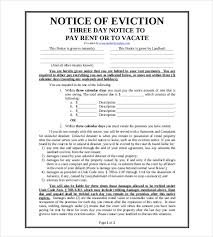 eviction notice template 29 free word pdf document free