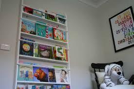 wall mounted bookshelves nursery