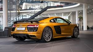 audi showroom orange pearl effect r8 v10 plus refreshes audi showroom