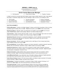 Human Resource Resume Sample by Senior Human Resources Manager Resume