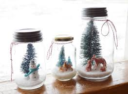 easy mason jar snow scenes pa country crafts