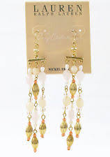 Ralph Lauren Chandelier Fashion Earrings Ralph Lauren Brass Fashion Jewelry Ebay