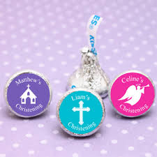 personalized baptism favors personalized christening or baptism hershey s kisses silhouette