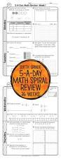36 weeks of daily common core math review for sixth grade preview