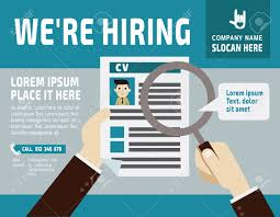See Resume Hiring Use A Magnifying Glass To See The Resume Banner Poster