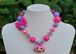 childrens necklaces lalaloopsy chunky necklace children s jewelry fotofuze