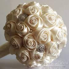 satin roses 145 best kanzashi wedding bouquet images on brooch