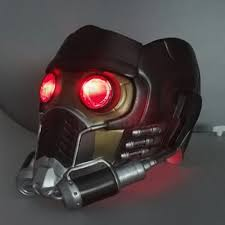 guardians of the galaxy cosplay star lord mask helmet with led