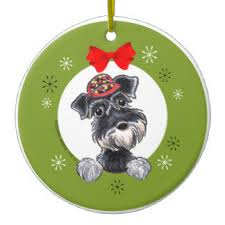 schnauzer ornaments keepsake ornaments zazzle