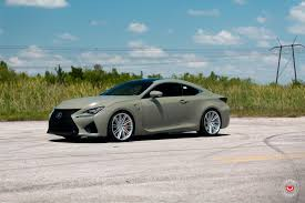 lexus sports car white army green lexus rc f u0026 white gs f pose on custom rims 49 pics