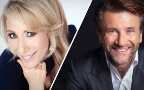 former qvc host with short blonde hair dan greiner married to shark tank star lori greiner and leading a