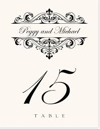 wedding table number fonts fancy brandy vintage monogram and flourish wedding table number