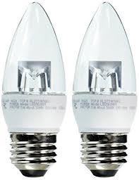 Chandelier Lightbulbs Tcp 40 Watt Equivalent 2 Pack Led Clear Chandelier Light Bulbs
