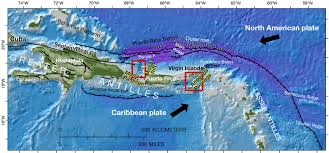 Map Of The Caribbean Islands by Earthquake Landslide And Tsunami Hazards In The Northeastern