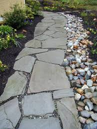 front yard landscape ideas using river rock the garden inspirations