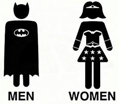 bathroom men amazon com ni745 men women bathroom decal batman wonder