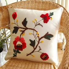 red roses sofa cushion covers pastoral style square pillow cover