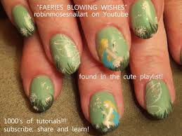 fairy nail art design tutorial dandelion nails youtube