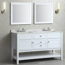 White Double Vanity 60 Ariel Mayfield Double 60 Inch Transitional Bathroom Vanity Set
