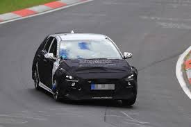 2017 hyundai i30 n spied on the nurburgring sounds nasty