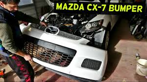 how to remove front bumper cover on mazda cx 7 cx7 front bumper