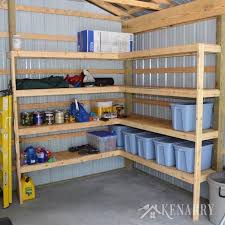 Building Wood Shelves Garage by 61 Easy Diy Garage Storage U0026 Organization Projects