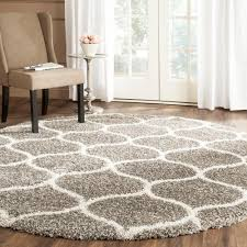 safavieh new orleans shag off white 5 ft x 5 ft round area rug