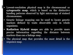 what information does a linkage map provide reading the blueprint of ppt