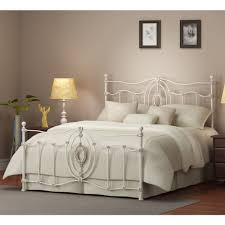 queen size bed frame white vintage metal antique style headboard