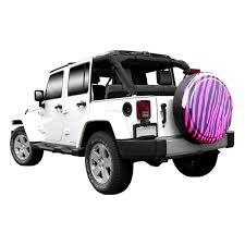 2005 jeep liberty spare tire cover boomerang rg zeb2 30 29 30 rigid series zebra black and pink