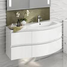 Curved Corner Vanity Unit White Gloss Bathroom Cabinets White Gloss Bathroom Furniture