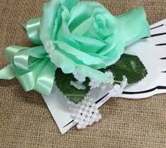 Turquoise Corsage New Artificial Mint Green Rose Corsage Mint Rose Mother U0027s Corsage