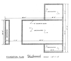 foundation of a house plan house plans