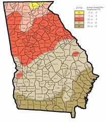 Northeast Georgia Map Hardiness Zones For Georgia Walter Reeves The Georgia Gardener