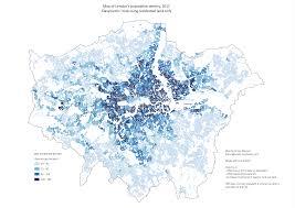 Population Density Map Dasymetric Map Of London U0027s Population Density 2011 U2013 James Gleeson