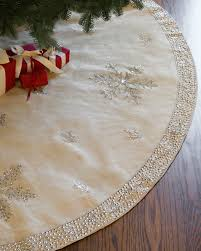 jute snowflake tree skirt balsam hill