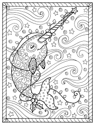 narwhal christmas coloring pages coloring books