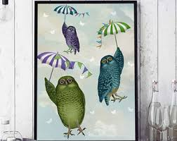 Owl Pictures For Kids Room by Art For Kids Room Etsy